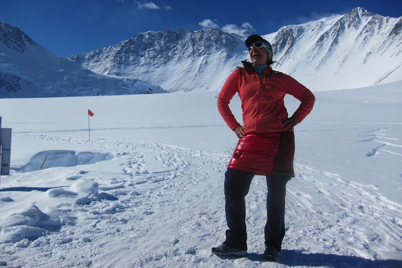 Red Antarctic Skirt